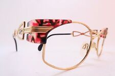 VINTAGE 80s CAZAL occhiali da vista Frames Red Taglia 54-19 MADE IN GERMANY