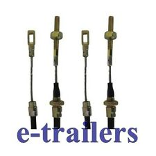 700mm FIXED EYE TRAILER BRAKE STEEL CABLE  FOR AL-KO ALKO SYSTEMS x 2
