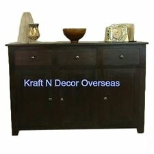 KraftNDecor Contemporary Wooden Side Board in Brown Colour