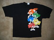 Vtg M&M Chocolate Candy Colorful GRAPHIC T-SHIRT Size Men's XXL Red/Green/Blue