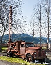 Vintage Well Drillers Truck / Drilling Rig - Giclee Photo Print
