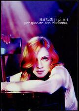 cartolina pubblicitaria PROMOCARD n.6408 TUTTO SU MADONNA GIOCO MOBI ZONE