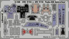 Eduard 1/48 Yakovlev Yak-38 Interior for Hobby Boss # FE773