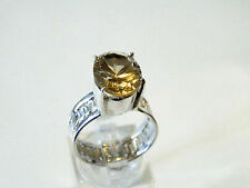 Large Yellow Citrine in sterling silver ring...5.5 grams