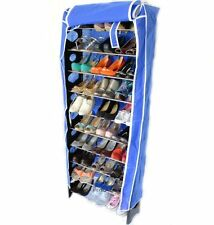 10 Tier Shoes Storage Organiser Stand Shelf Rack Holds 30 Pairs WITH FREE COVER!