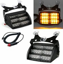 12v LED Emergency Car Vehicle Strobe Warning Windshield Dashboard Flashing Light
