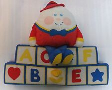 Vtg HUMPTY DUMPTY Musical Plush Pillow Baby Wall Hanging Fisher Price 1984 USJap