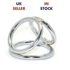 Triple Metal Penis Ring Cage Impotence Sex y Love Toy Erection Aid *UK Stock*