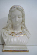 """Vintage Bust Statue Signed L S  7""""  Tall Mary Nativity Figurine"""