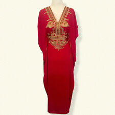 Moroccan kaftan Embroidery Maxi Batwing Dress,Abaya one size ( Org Price 44.99)