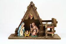 VINTAGE NATIVITY SET FIGURES CRECHE MADE IN ITALY MUSIC BOX Plays Silent Night