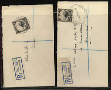 New Zealand, Wellington ,Invercargill  2  registered covers  local use   MM0929