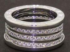 Bulgari B-Zero heavy 18K WG 1.50CT VS1/F diamond eternity band ring size 7.25