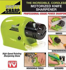Compact Electric Sharpener High Speed Rotating For kitchen Knives Scissor New