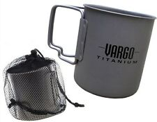 Vargo Titanium Mug Travel Cup 450ml Cookset Backpacking Lightweight w/ Mesh Bag