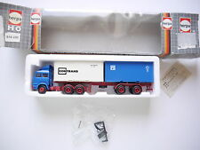 SZ IVECO Turbo 2x 20ft Container CONTRANS, LENKBAR, Herpa #816220 1:87 H0 boxed!
