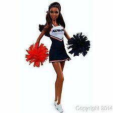 University of AUBURN African American Cheerleader Barbie Doll