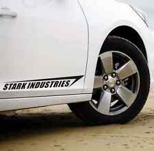 New Decoration Black Car Sticker Ironman Stark Industries 2 Stickers For 2 Side