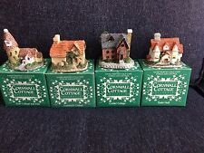 Set Of Four Cornwall Cottage Collection Figurines