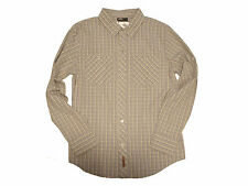 GOLITE Button-front Plaid Shirt Color: Blue/Grey/Yellow Sz: Medium