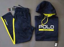 Ralph Lauren Polo Sport Tech Fleece Active TrackSuit Men Size L Blue Genuine NWT