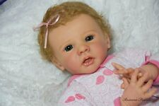 Reborn Baby Girl Ella by Karola Wegerich Delta Dawn Mohair