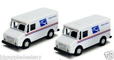 """2 x 4.5"""" truck USPS United States US Postal Service mail delivery diecast model"""