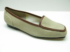 Enzo Angiolini Lacey Natural Canvas Flat Loafers Shoes 4.5M 4.5 NEW MSRP $79.