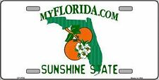 Florida State Background Novelty 6 x 12 Metal License Plate Auto Tag Sign