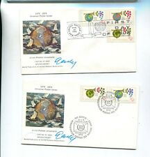 NEW YORK 1974 SCOTT 246 JANIS GAILIS AUTOGRAPH FDC UNITED NATIONS STAMP LOT 2