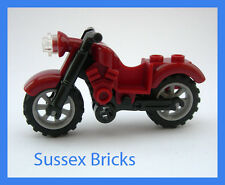 Lego - Dark Red Vintage Motorbike Motorcycle Bike - City - Brand New Pieces