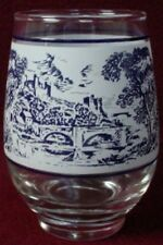 WEDGWOOD china COUNTRYSIDE BLUE pattern 10-oz Tumbler or Glass - 4-1/2""