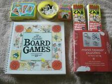 VINTAGE LOT OF 20+ CLASSIC BOARD & CARD GAMES & MIND-TEASER PUZZLES