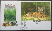 M'sia Ms-FDC Endangered big cats 23.12.2013