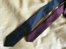 Armani Exchange reversible navy blue & burgundy tie with metal knot - BRAND NEW