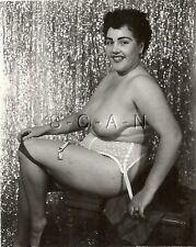Original Vintage 40s-60s Nude RP- Well Endowed Heavy Set Woman- Garter- Stocking