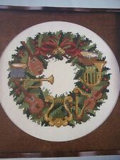 Musical Christmas Wreath OOP Magazine Cross Stitch Pattern