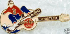 Hard Rock Cafe WHISTLER 1990s Guitar w/Snowboarder PIN - HRC Catalog #10468
