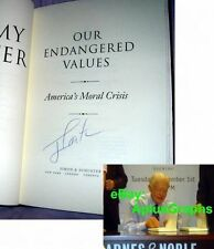 PRES. JIMMY CARTER.. Our Endangered Values - SIGNED +