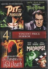 PIT PENDULUM + TALES OF TERROR + MASQUE RED DEATH + MADHOUSE DVD Vincent Price