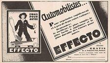 Y8933 Email pour autos EFFECTO - Pubblicità d'epoca - 1929 Old advertising