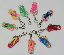 6pcs Mixed Polymer Fimo Clay Slippers Dangle Beads And lobster clasp Fit Charms