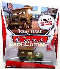 Disney Pixar Cars Sarge der Army Sergant - Look my Eyes Change! Mattel - NEU OVP
