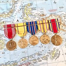 WWII US ARMY MEDAL GROUP GOOD CONDUCT AMERICAN ASIATIC PACIFIC CAMPAIGN VICTORY