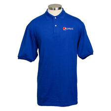 Pepsi Royal Blue Value Polo (Jerzees)  Mens Size LG - 50/50 Cotton/Poly  *NEW