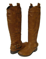 New Women's Stack Heel Knee High Riding Boots Tan winter snow Ladies size 10