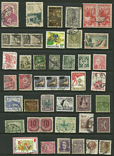 Small World collection of 43 stamps Singapore 10c, one penny  used pairs, strip