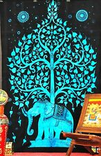 Elephant Tree Of Life Psychedelic Tapestry Wall Hanging Throw Indian Tapestries