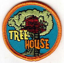 """TREE HOUSE"" - PLAYHOUSE - CHILDREN - TREES - Iron On Embroidered Patch"