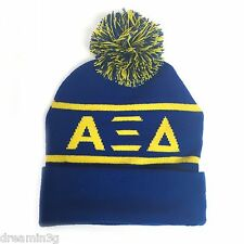 Alpha Xi Delta Knit Beanie Pom Winter Hat